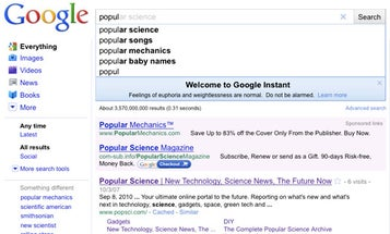 Google Instant Search Displays Full, Real-Time Results As You Type