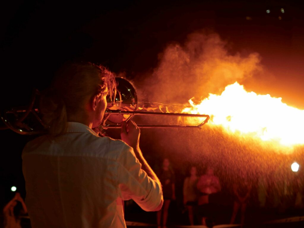 """Pyro-Trombone"""