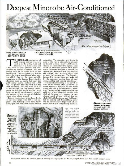 Deepest Mine to Be Air-Conditioned: October 1934