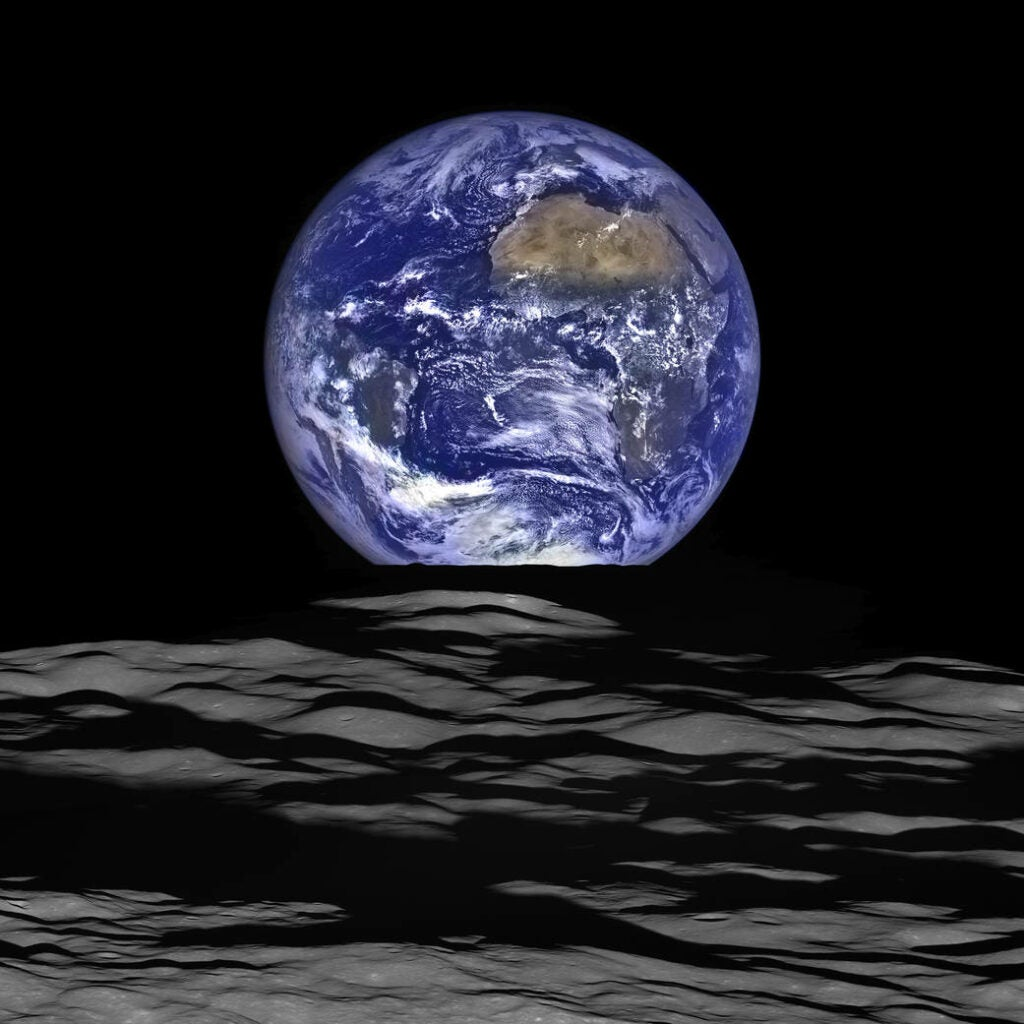 shot of the Earth from the LRO spacecraft