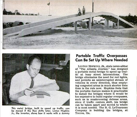 Portable Traffic Overpasses: August 1941