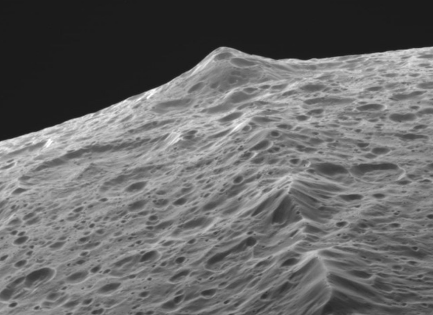 Did Iapetus's Mountains Fall From Space?