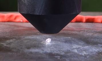 Watch A Diamond Crack Under Pressure