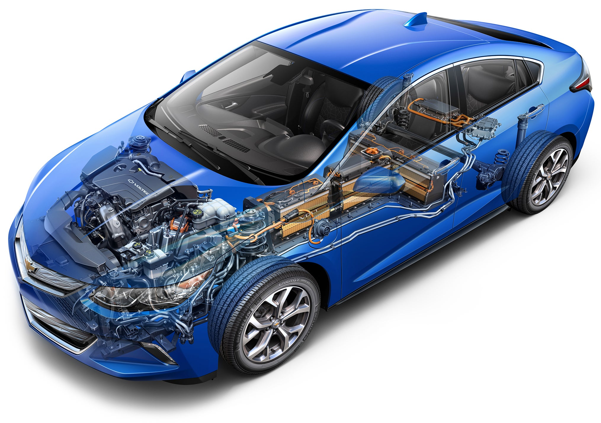 inside the Chevrolet 2016 Volt electric car