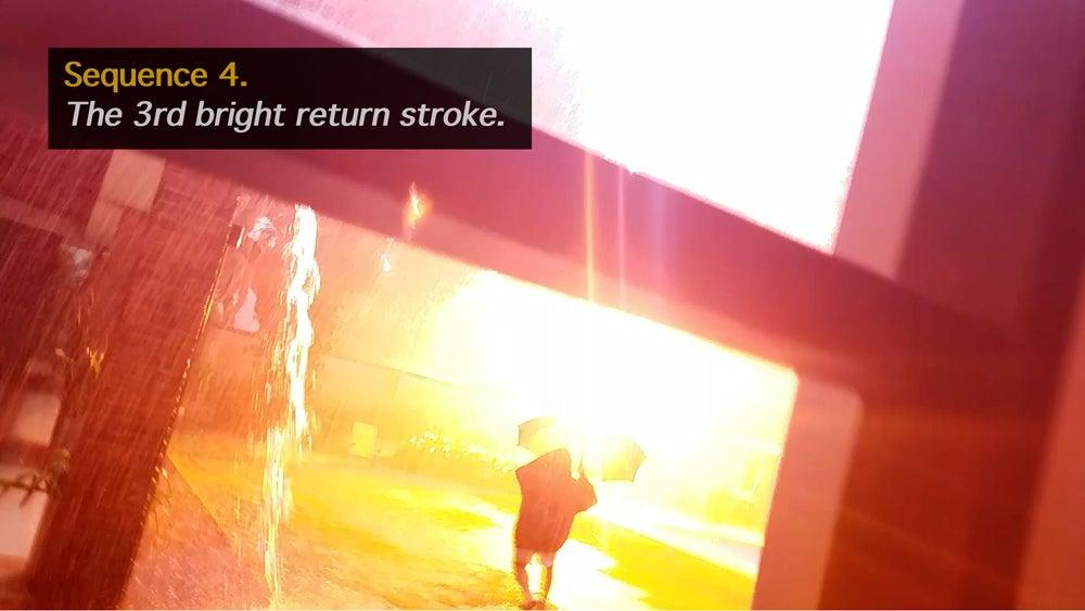 bright return stroke