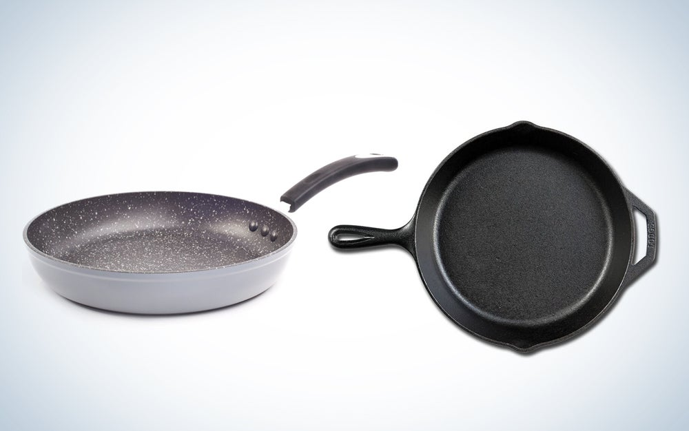 Pans Nonstick Stone Cast Iron Skilled