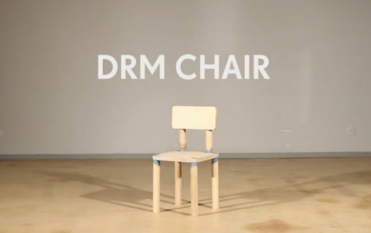 This 'DRM' Chair Will Self-Destruct After Eight Uses