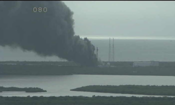 Explosion At SpaceX Rocket Launch Site At Cape Canaveral