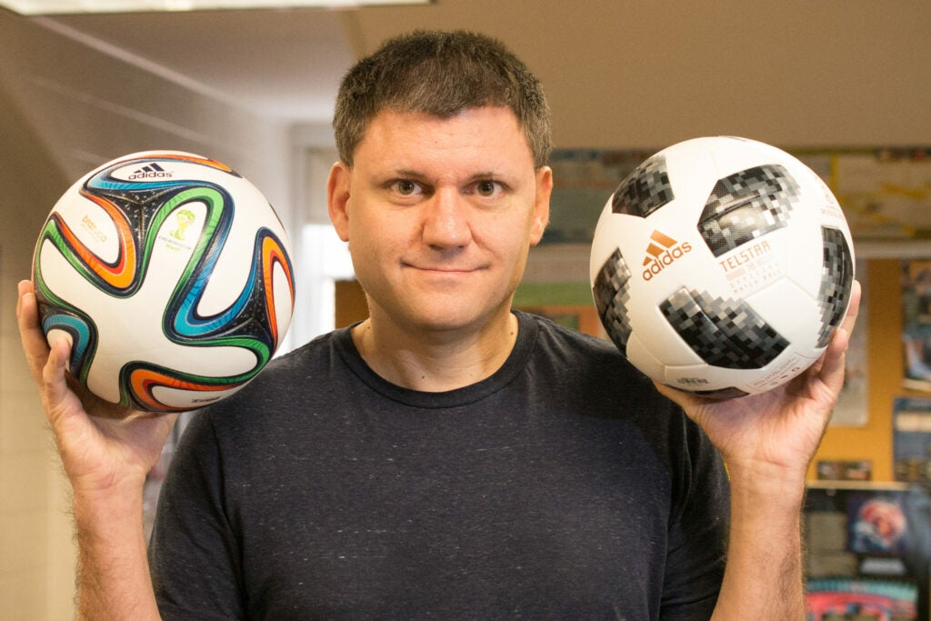 john goff with world cup balls