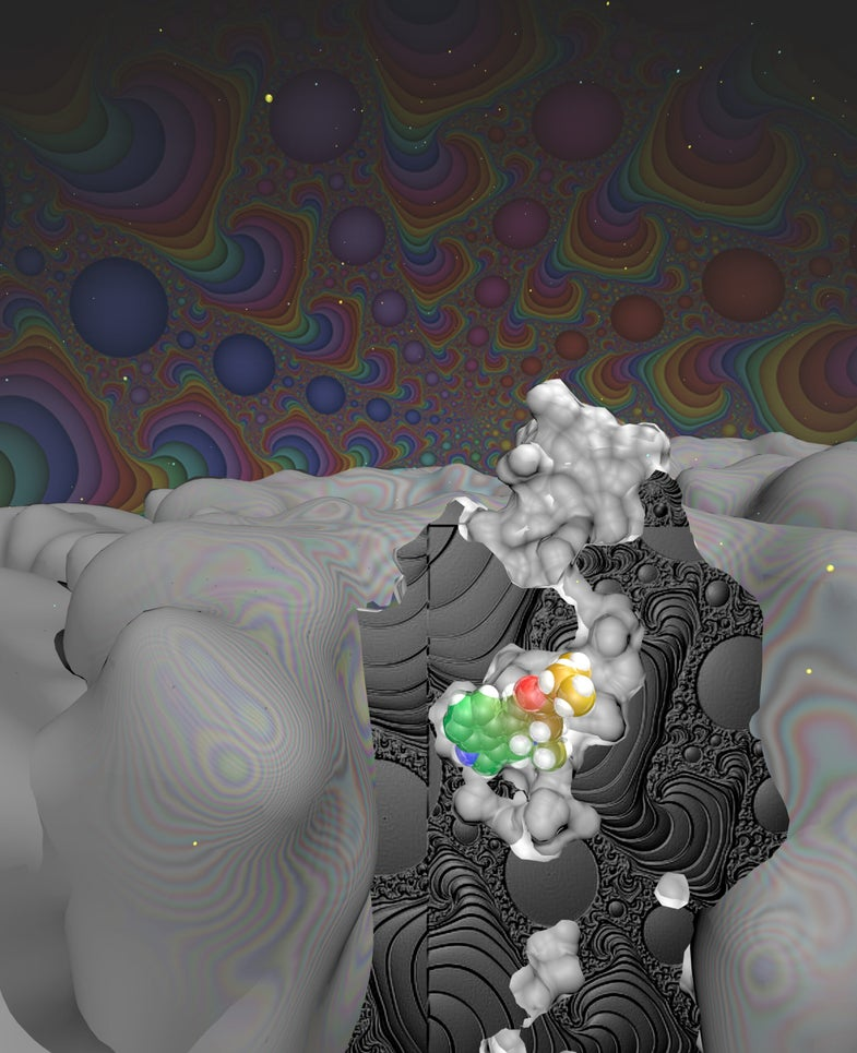 LSD literally gets stuck inside your brain