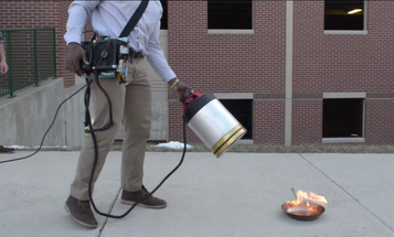 Watch Engineers Extinguish Fire With Sound [Video]