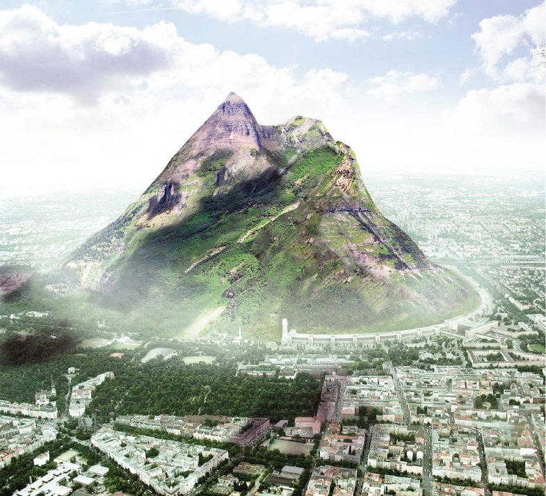 German Architect Wants to Build World's Largest Artificial Mountain
