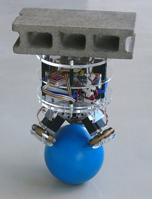Japanese Bot Balances on a Ball, Serves Drinks