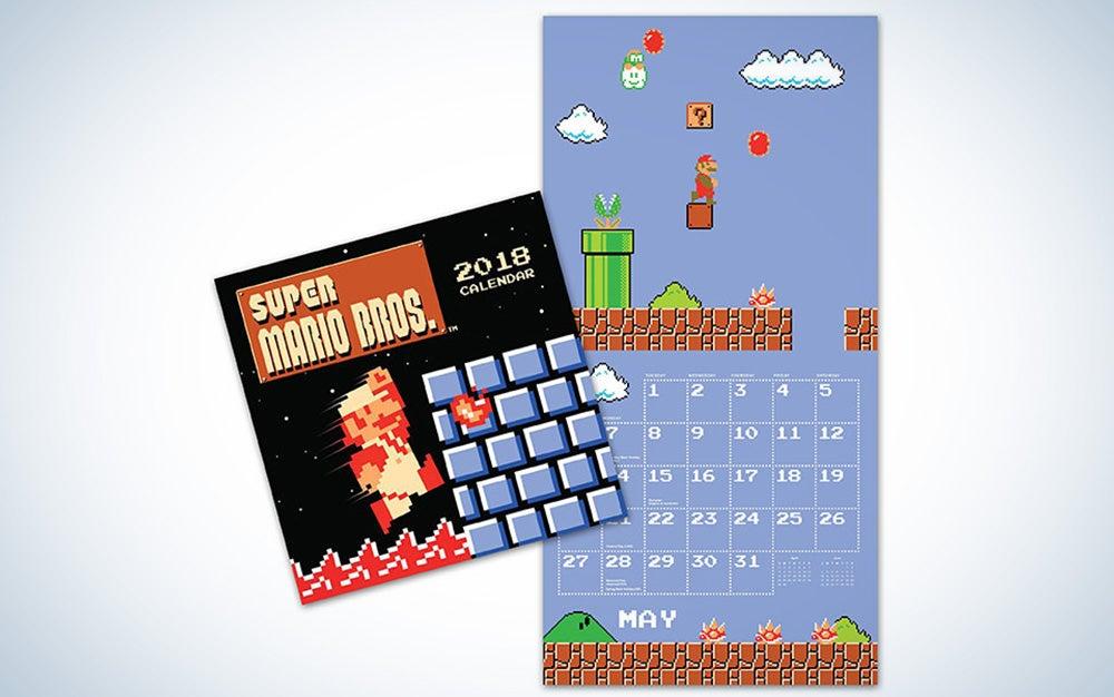 2018 Super Mario Bros. Wall Calendar