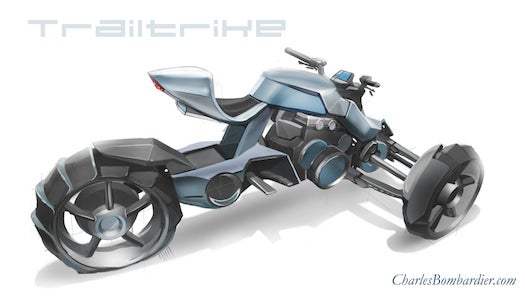 This Trike Motorcycle Concept Is Like A Big Wheel For Adults