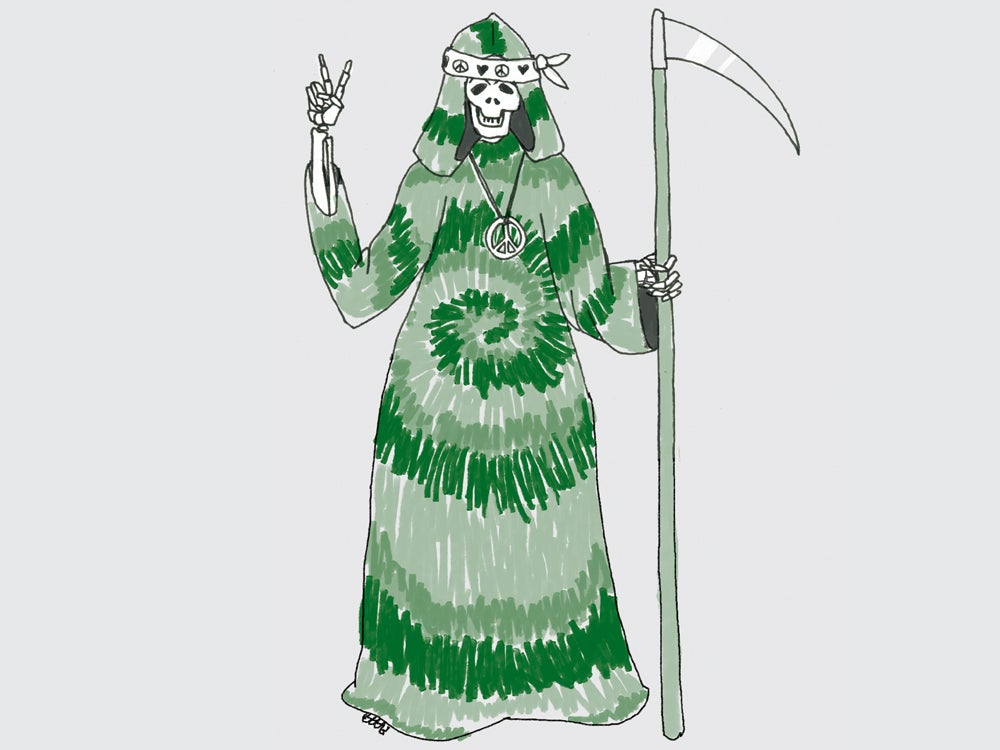 psychedelic grim reaper