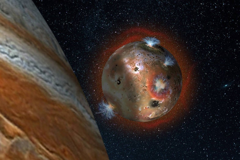 Io's Entire Atmosphere Freezes And Collapses