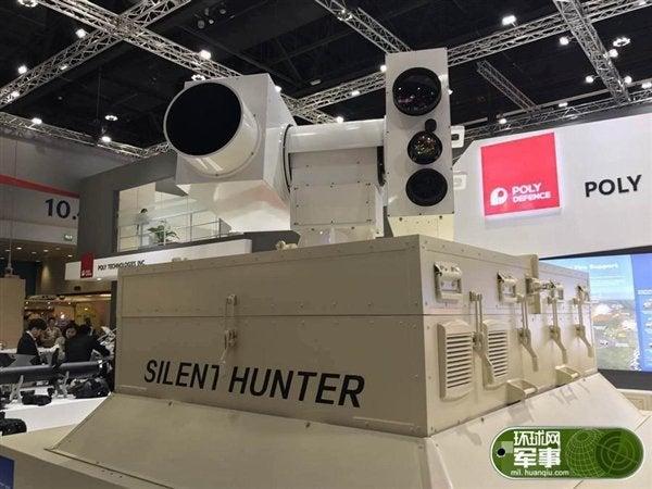 China Silent Hunter laser at Dubai IDEX 2017