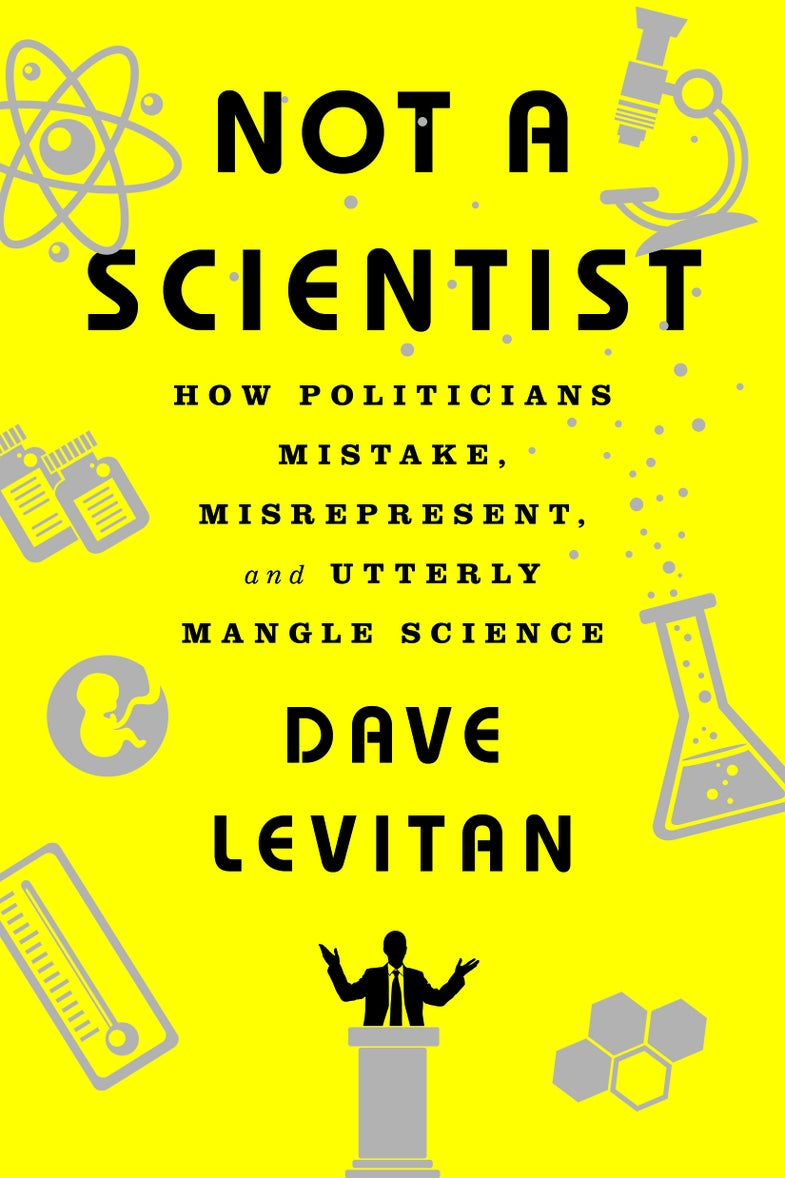 book cover not a scientist