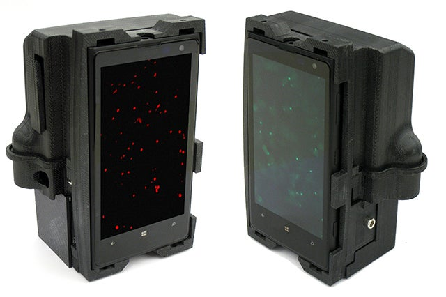 Two smartphone microscopes