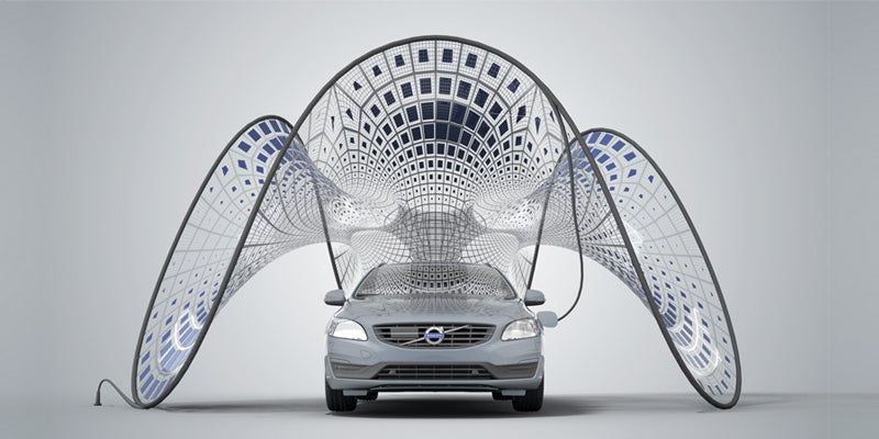 Volvo's Fold-Out Solar Charger Looks Like Sci-Fi Couture