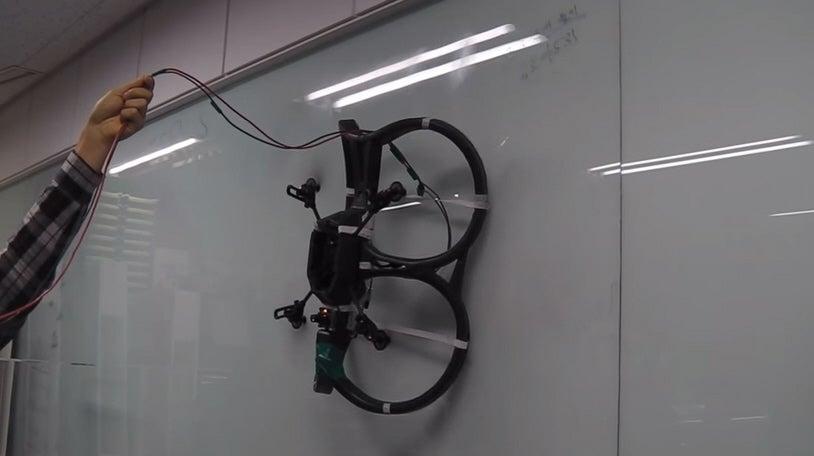 Wall Climbing Quadcopter