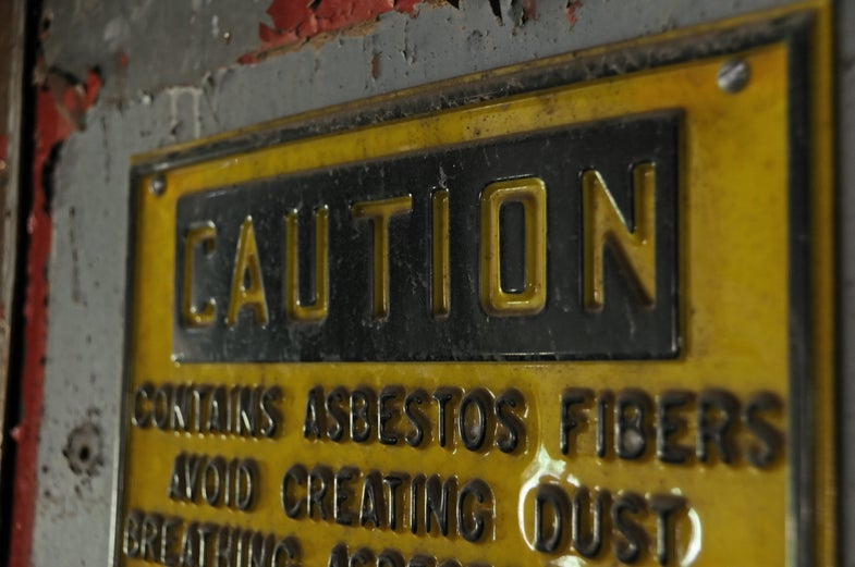 The EPA's latest news on asbestos has a lot of people nervous