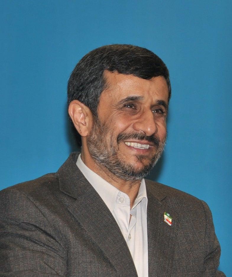 Iran's President Ahmadinejad Is Ready To Go Into Space