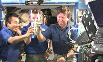 Space Station Astronauts Toast ISS Kitchen Upgrades With Their Own Urine