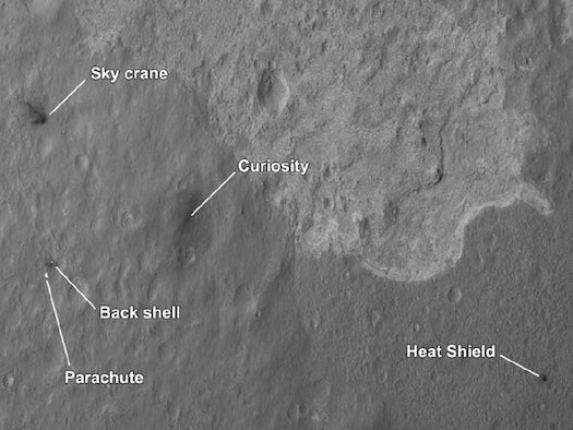 NASA Satellite Photo Shows Aftermath of Mars Rover Curiosity's Landing