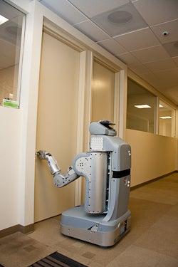 New Robot Opens Doors, Plugs Self In