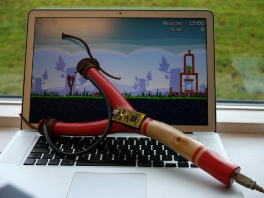 Video: Hack a Common Slingshot into a USB Peripheral for 'Angry Birds'