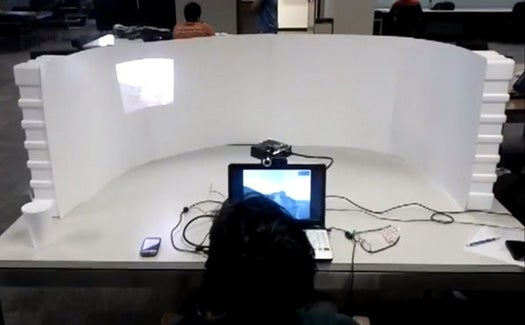 Video: A Built-In Eye Tracker Makes A Projection Screen You Can't Look Away From