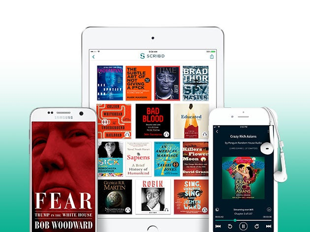 Enjoy books, audiobooks and magazines on the go with Scribd