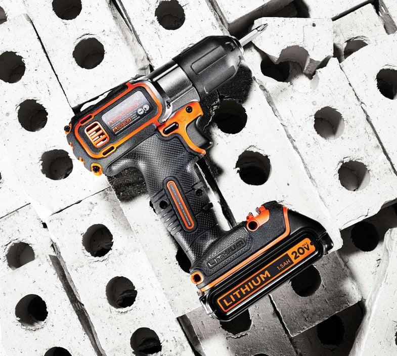 Black & Decker 20v Max Lithium Cordless Drill With Autosense Technology
