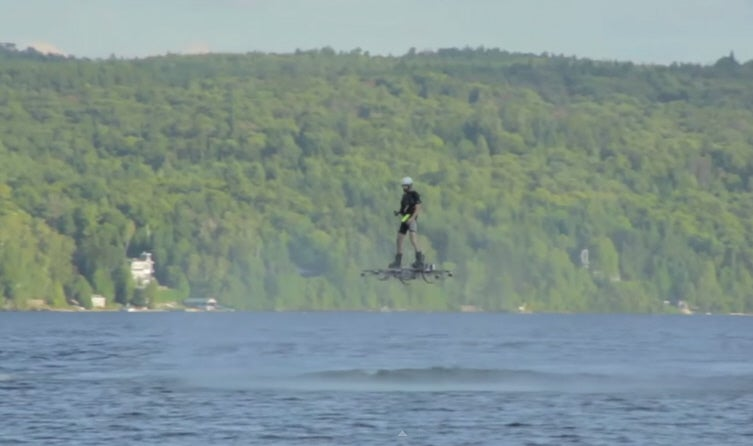 Watch A Record-Setting Hoverboard Flight
