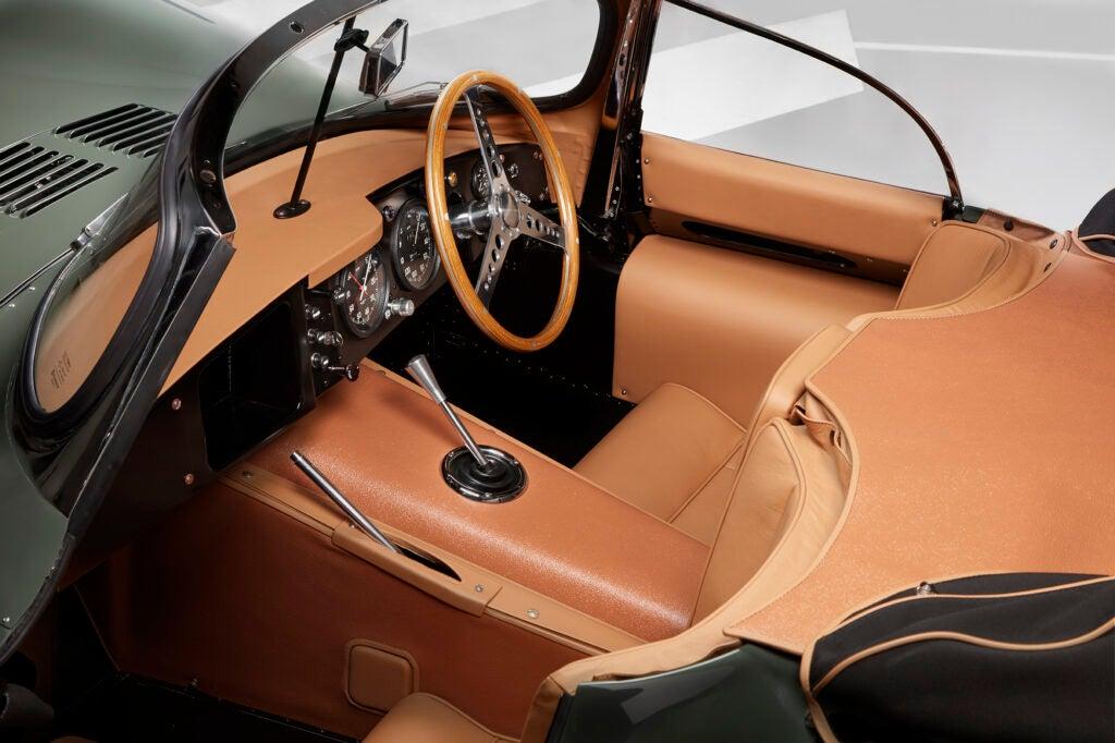 The interior of Jaguar's XKSS.
