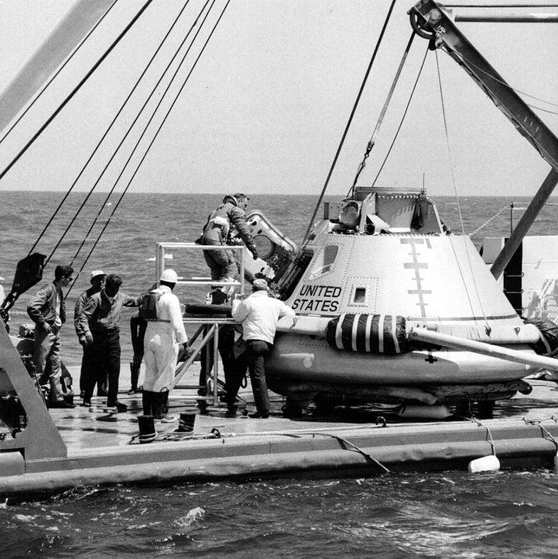 Apollo 11's recovery.