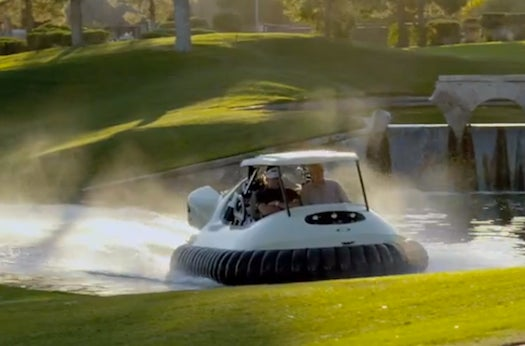 Watch This Golf Cart-Hovercraft Fly Over Hazards Like They're Nothing
