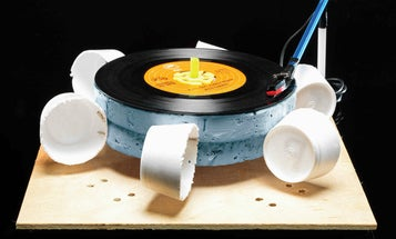 How to build a record player powered by wind