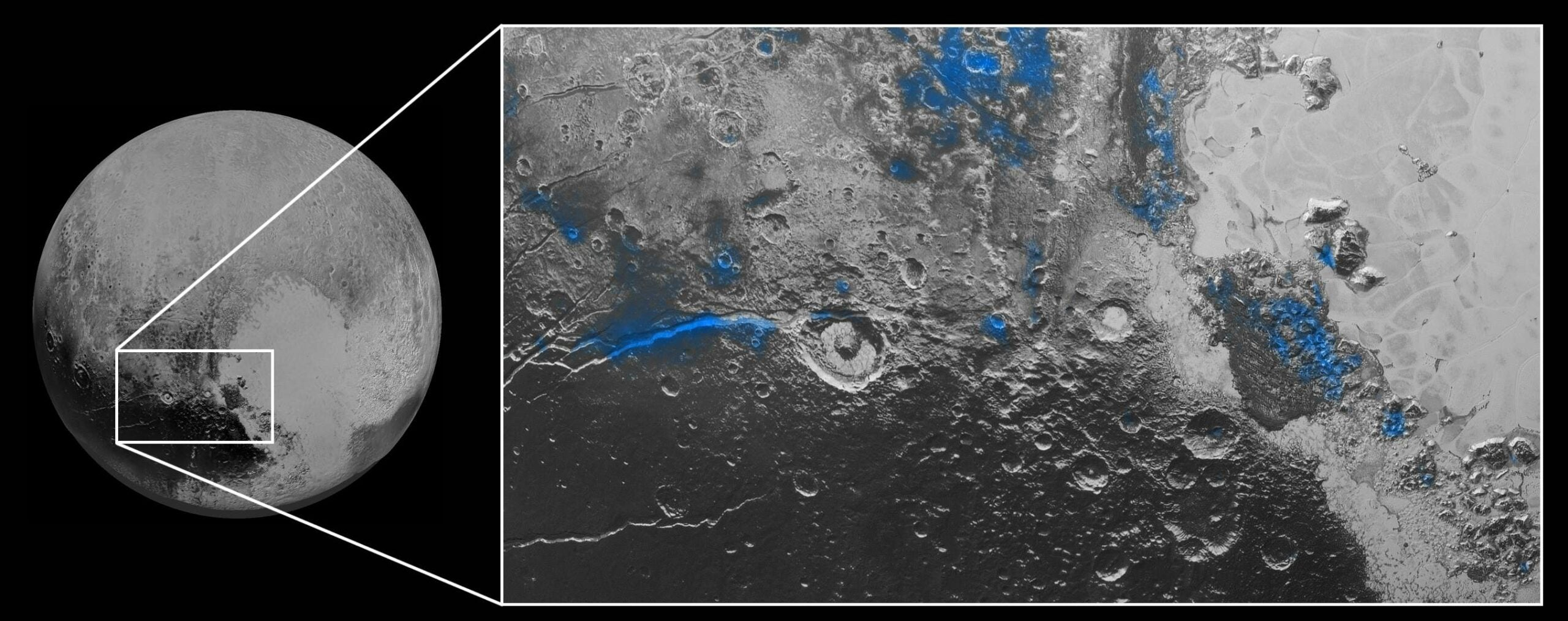 Pluto Has Red Ice And Blue Skies
