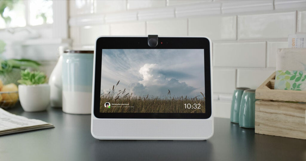 Facebook Portal with lens cover