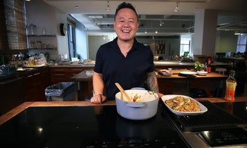 To make chef Jet Tila's chewy drunken noodles, you'll need to brush up on your chemistry