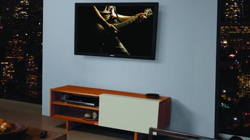 tv on a wall