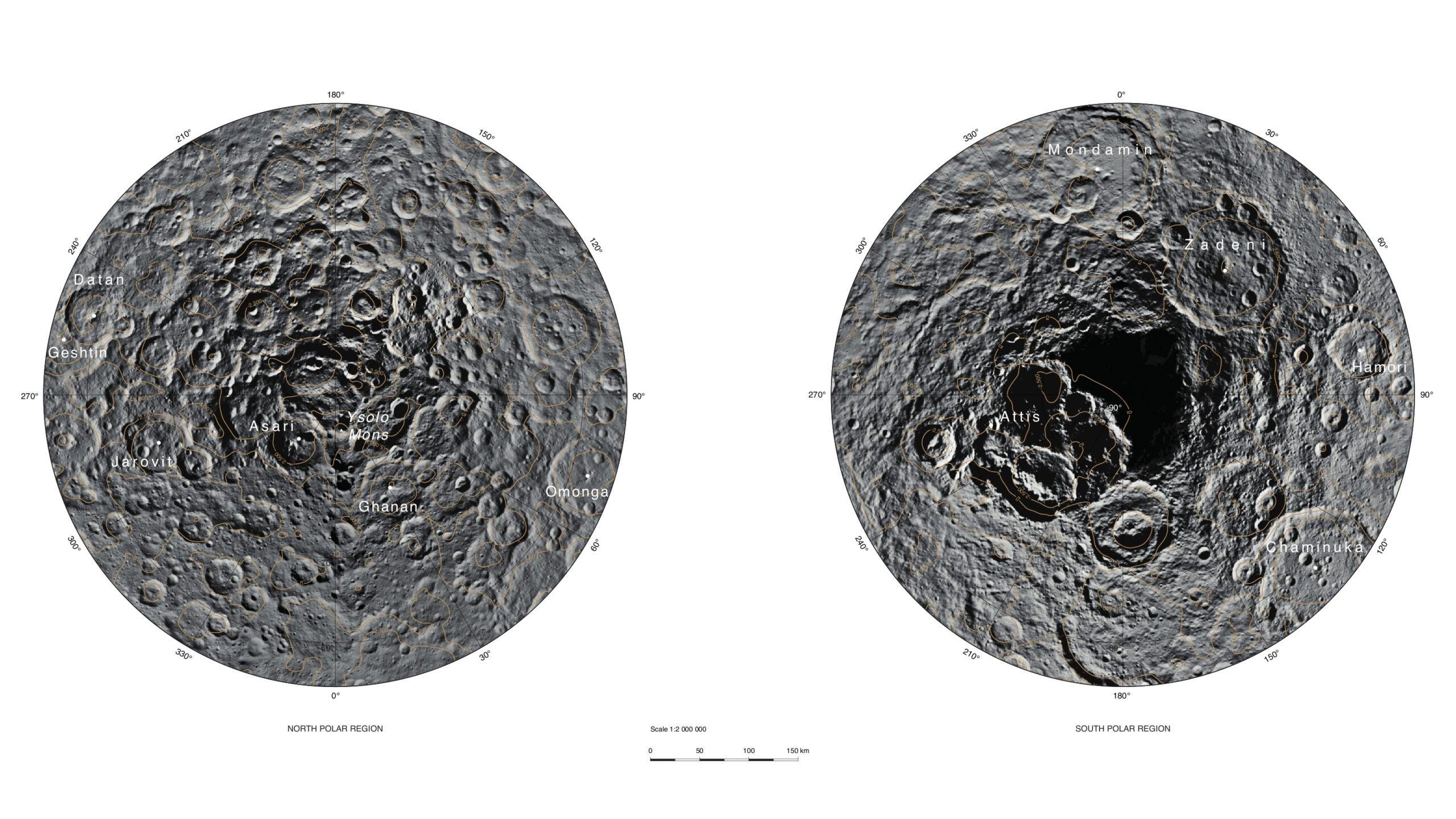 Polar Regions Of Dwarf Planet Ceres