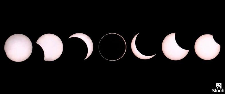 Annular Eclipse Timelapse