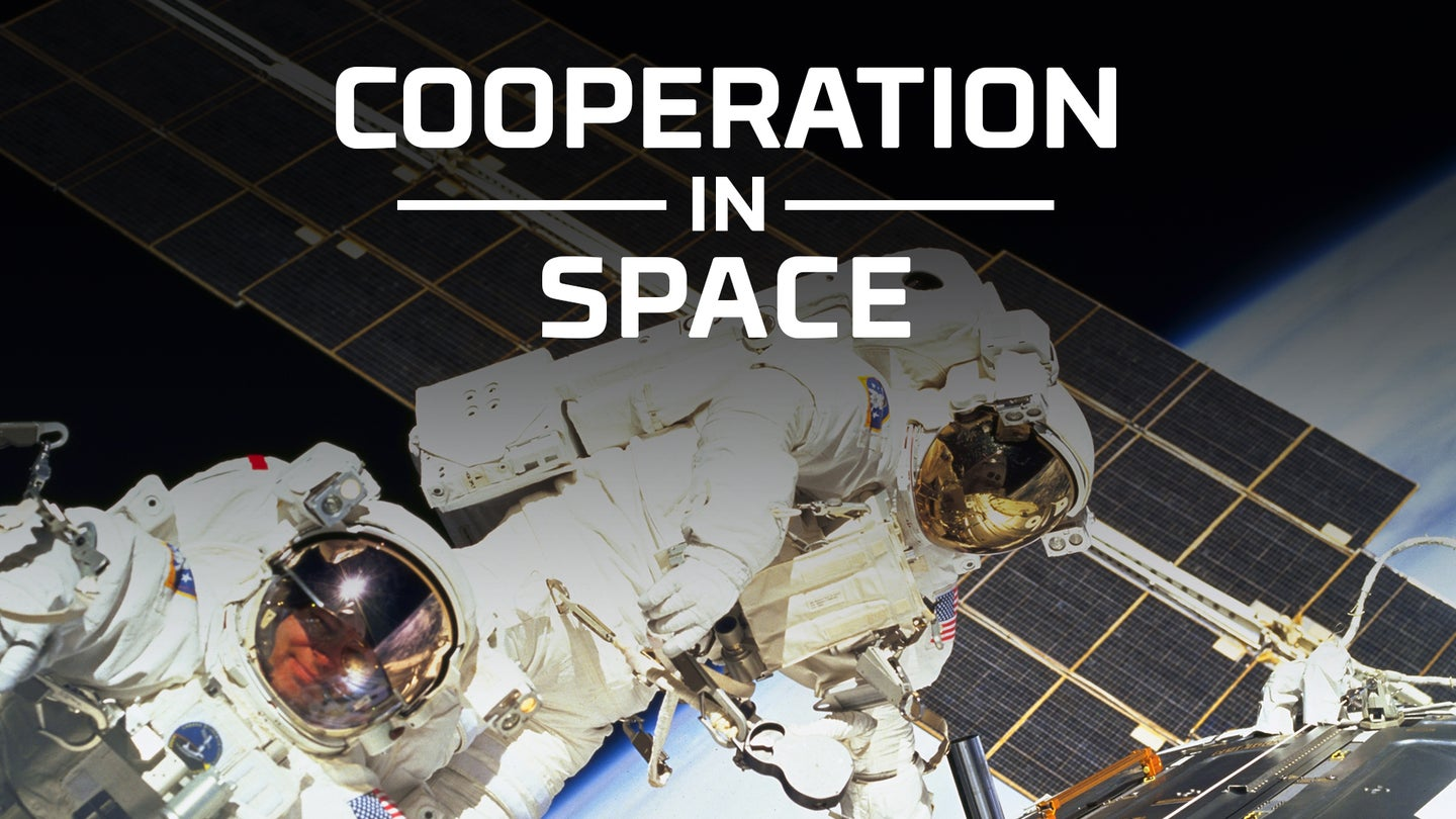 Cooperation in Space