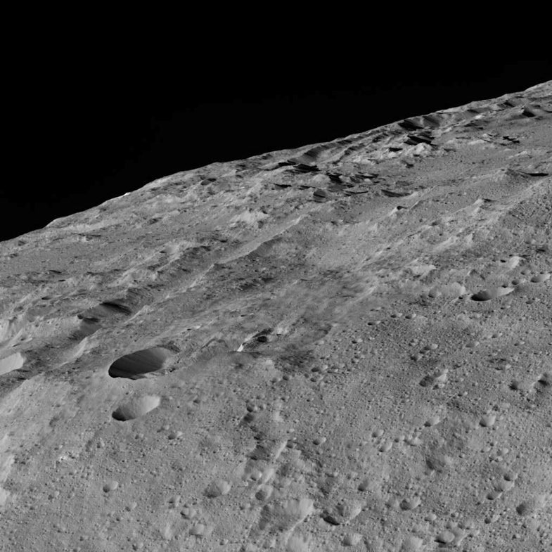 A chain of craters named Gerber Catena