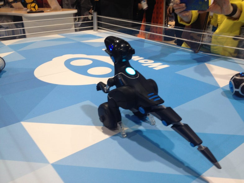 CES 2015: This Robotic Dino Can Follow You Around And Play Ball [Video]