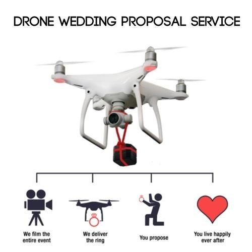 Now You Can Propose Marriage At A Safe Distance, With Drones